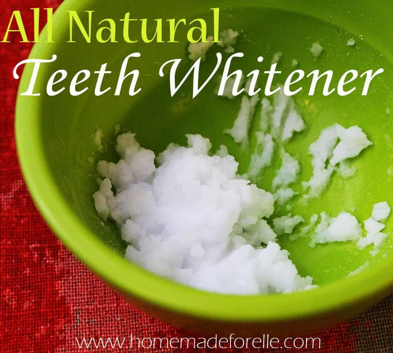 All Natural Teeth Whitener with baking soda and peroxide