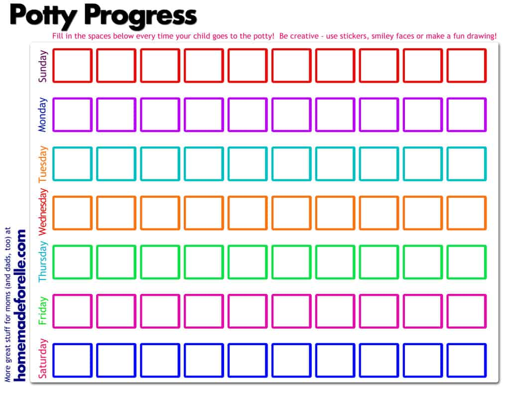 Potty Chart Printables New Calendar Template Site