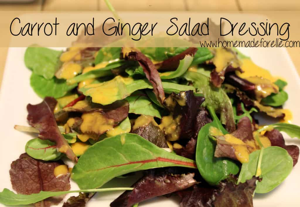 Carrot and Ginger Salad Dressing