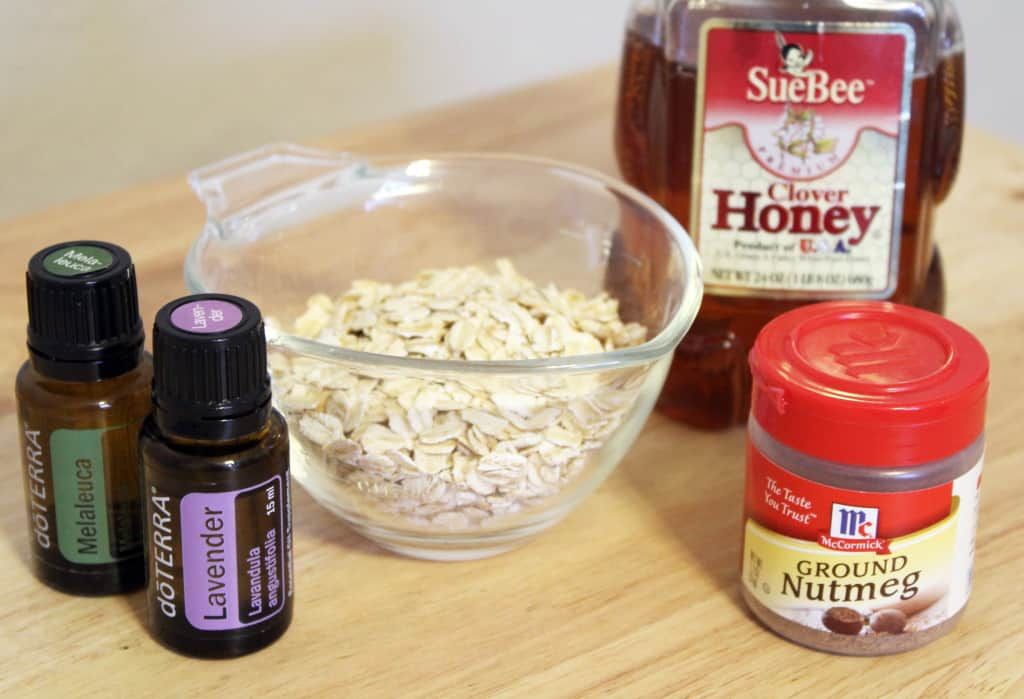Oatmeal and Honey Face Scrub Ingredients