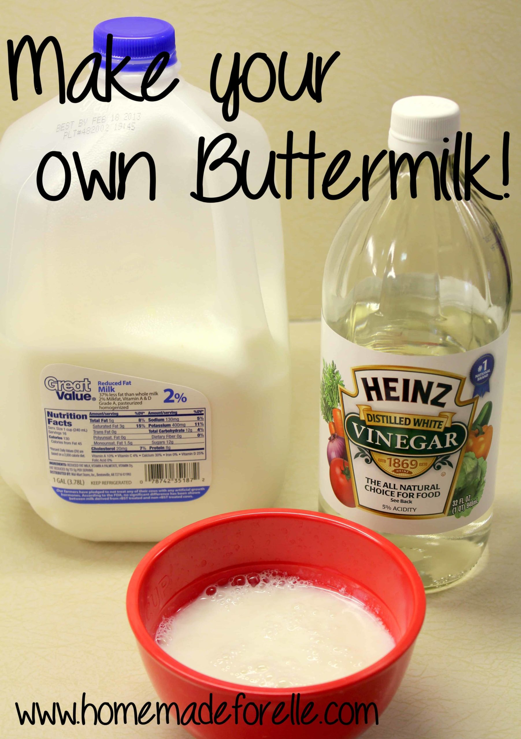 Make your own buttermilk