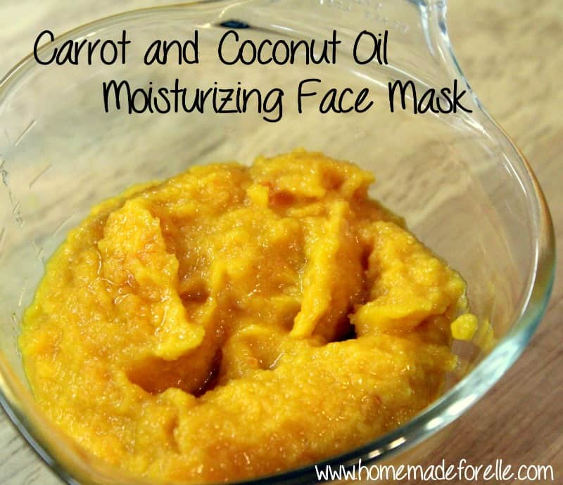 Carrot and Coconut Oil Face Mask | homemadeforelle.com