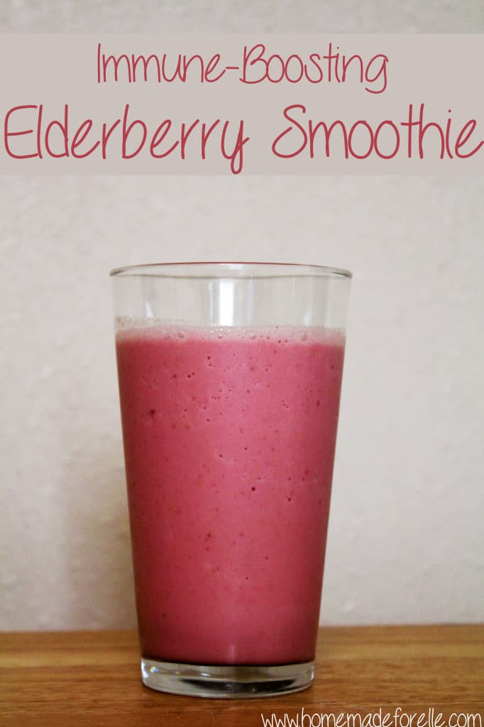 Elderberry Smoothie from homemadeforelle