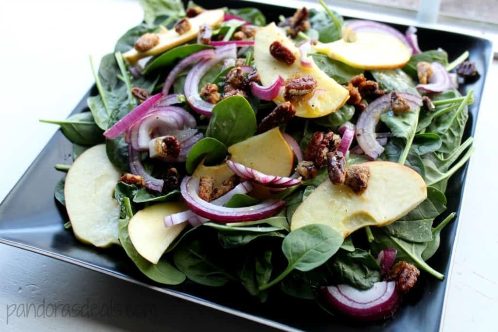 Curried Pecans & Maple Cider Dressing
