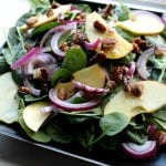 Curried Pecans & Maple-Cider Dressing