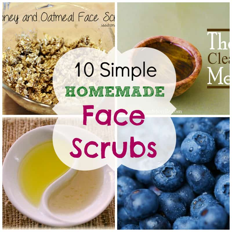 simple exfoliating face scrubs