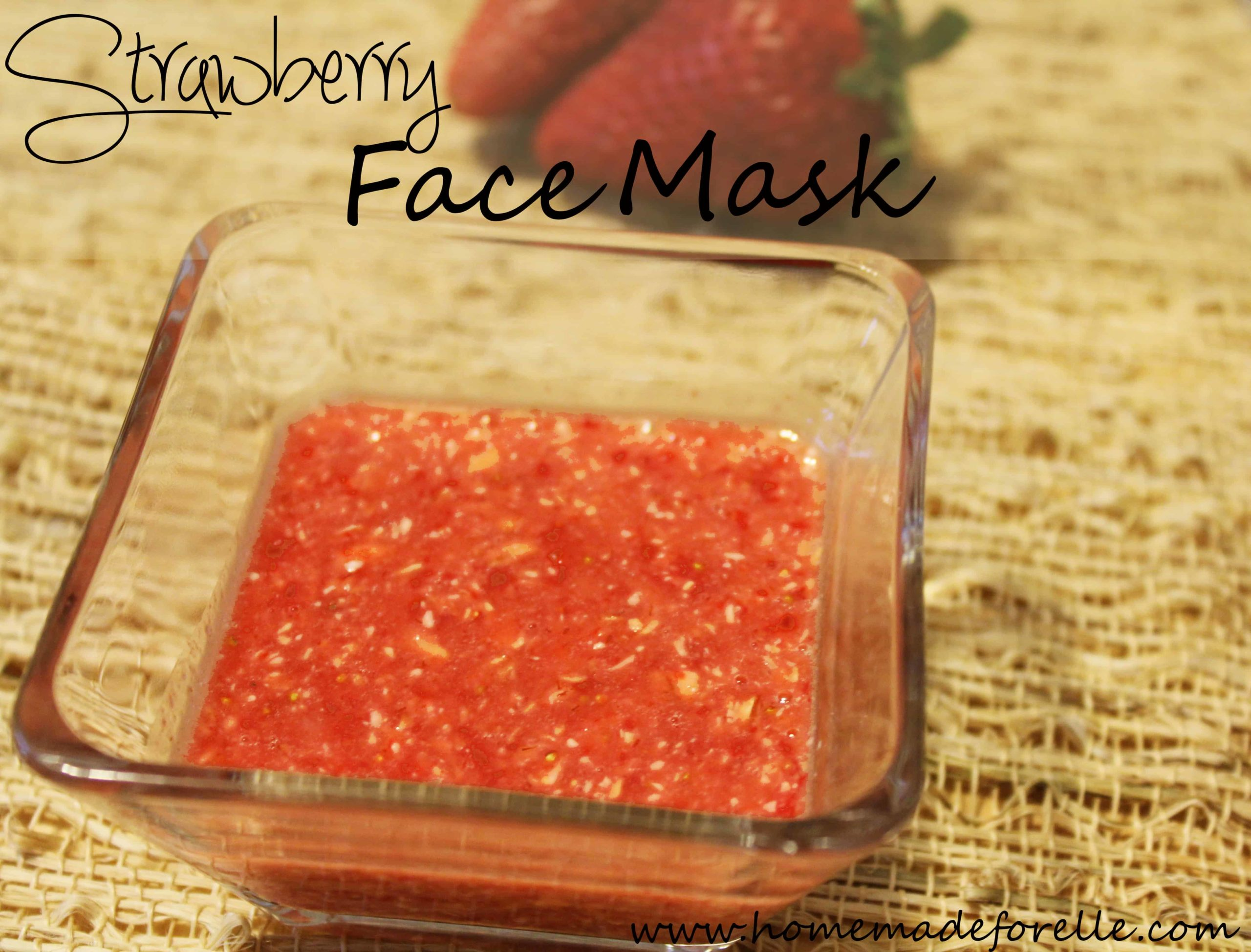 Moisturizing & Exfoliating Strawberry Face Mask