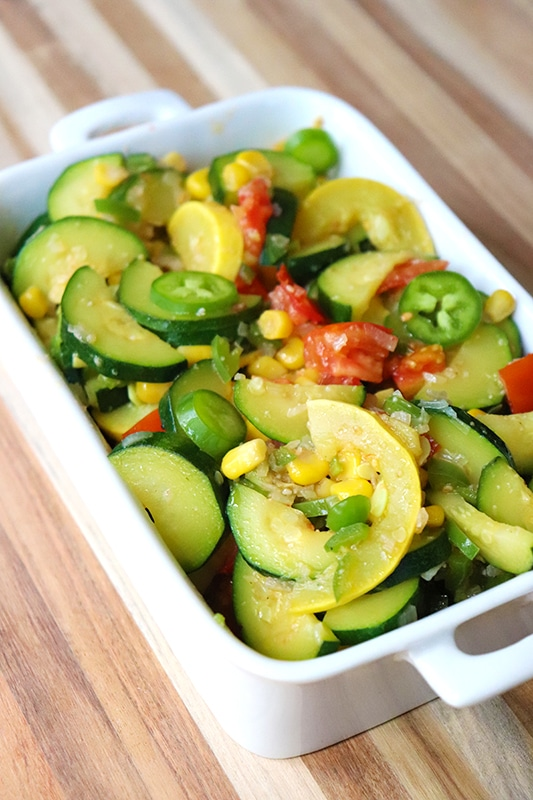 How to make Calabacitas with squash, tomatoes, and jalapenos