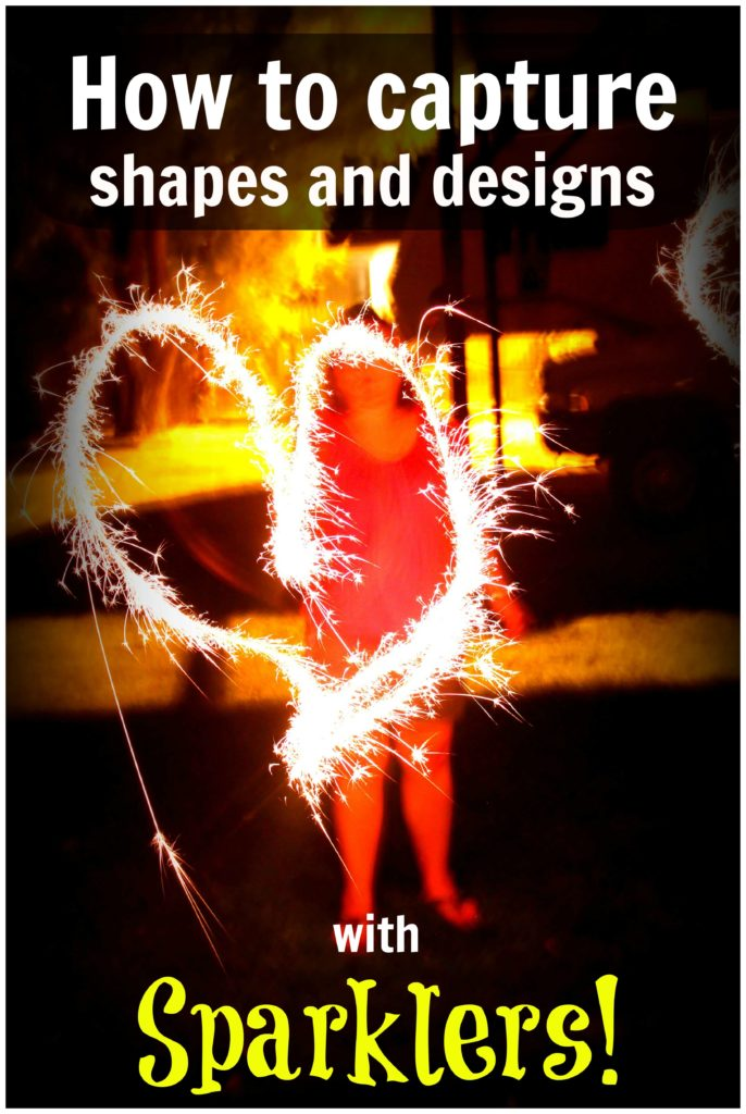 How to capture shapes and designs with sparklers