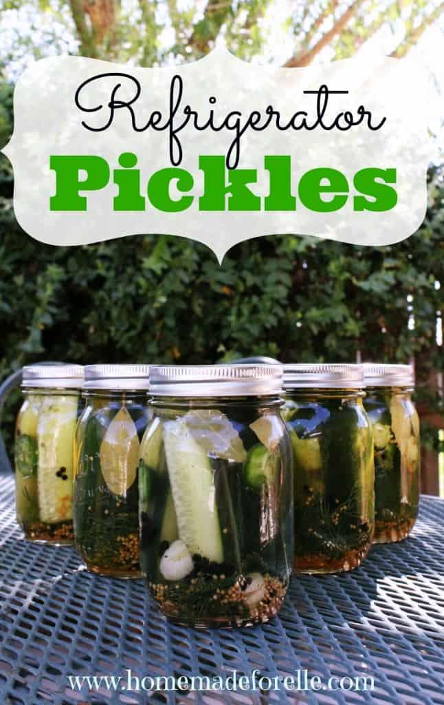 DIY Refrigerator Dill Pickles