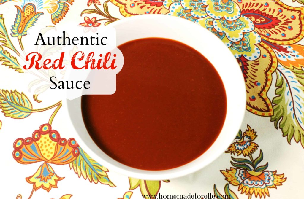 Authentic red chile sauce