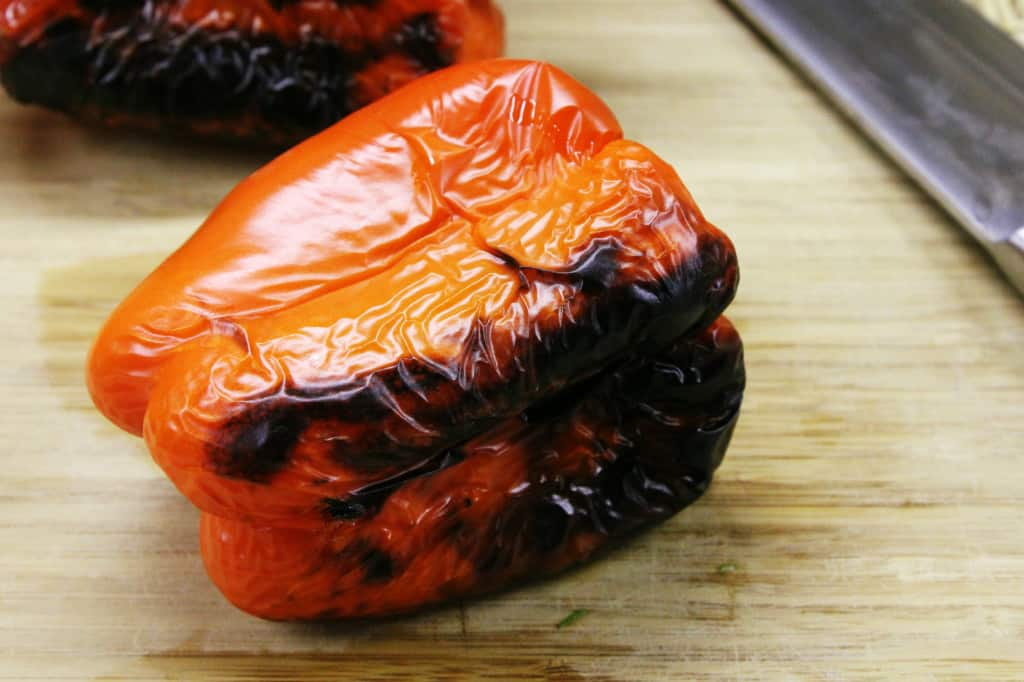 Charred roasted red pepper