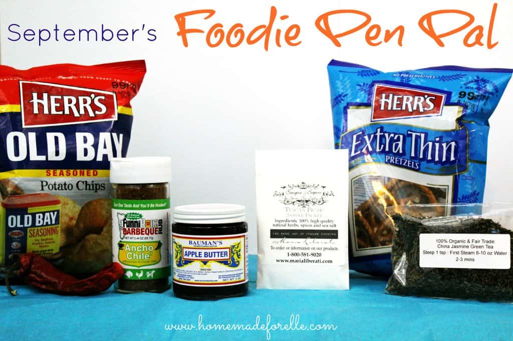 Septembers foodie pen pal