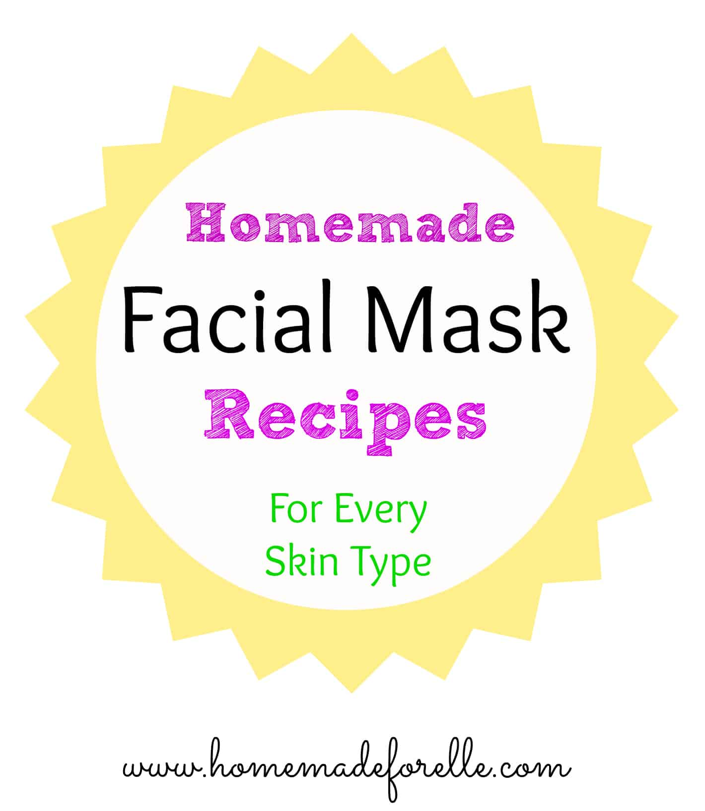 easy face mask recipes - HD 1420×1635
