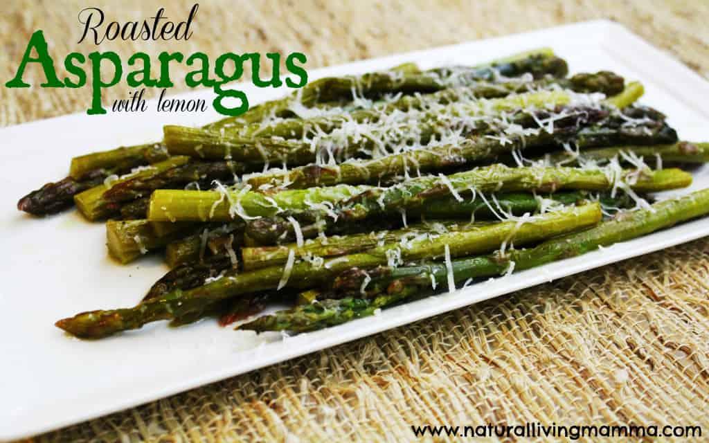 roasted lemon with asparagus