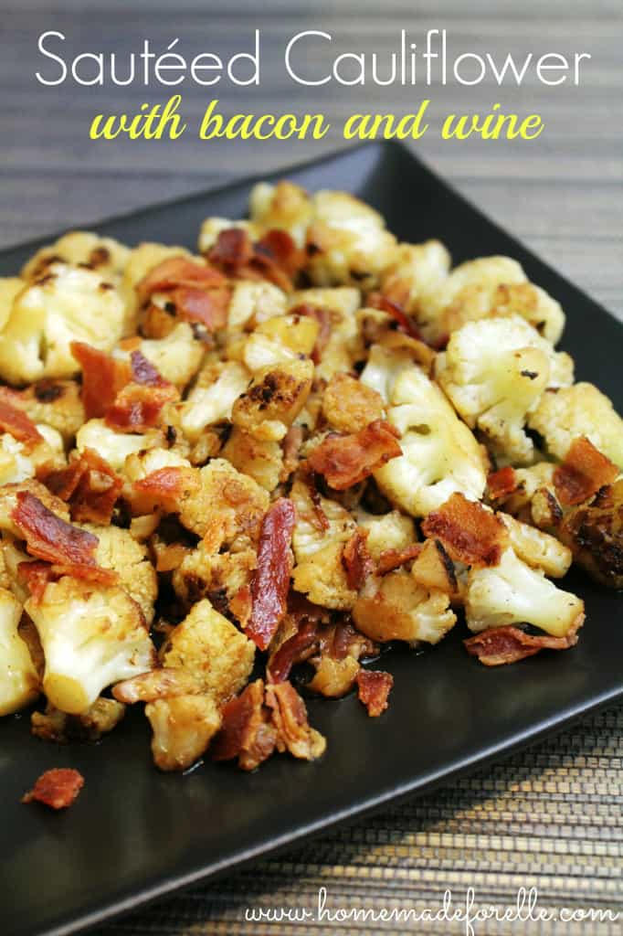 sauteed cauliflower with bacon and wine