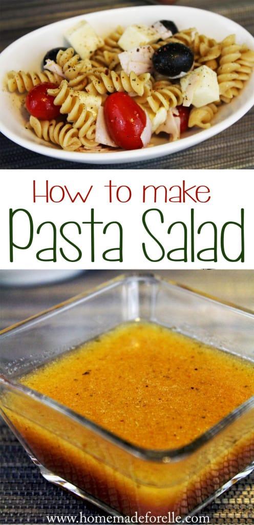 how to make homemade pasta salad