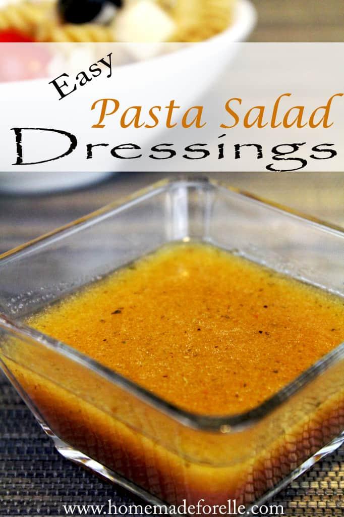 easy pasta salad dressing recies