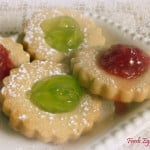 Raspberry and Mint Thumbprint Cookies