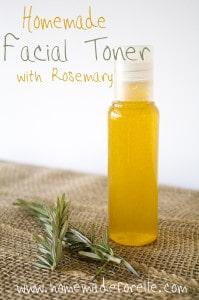 Homemade Facial Toner with Rosemary