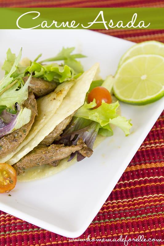 How to Make Carne Asada | homemadeforelle.com