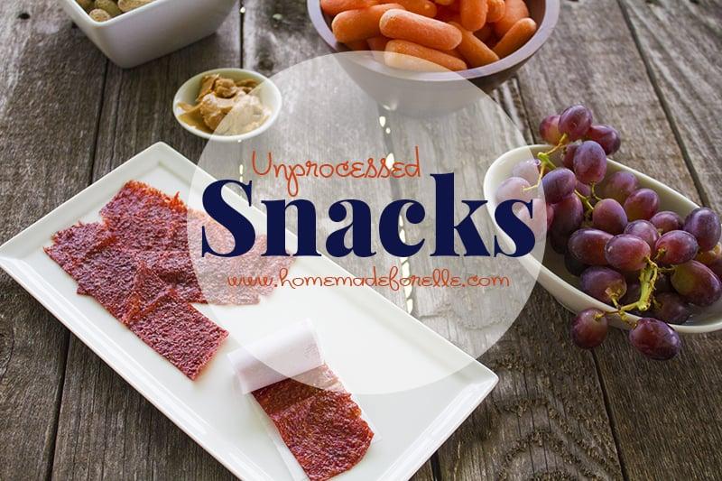 Unprocessed Snacks