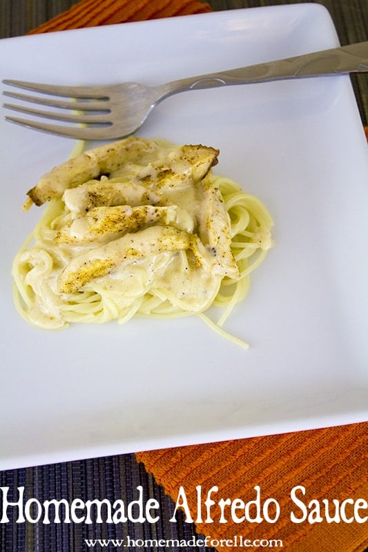 home made alfredo sauce from homemade for elle