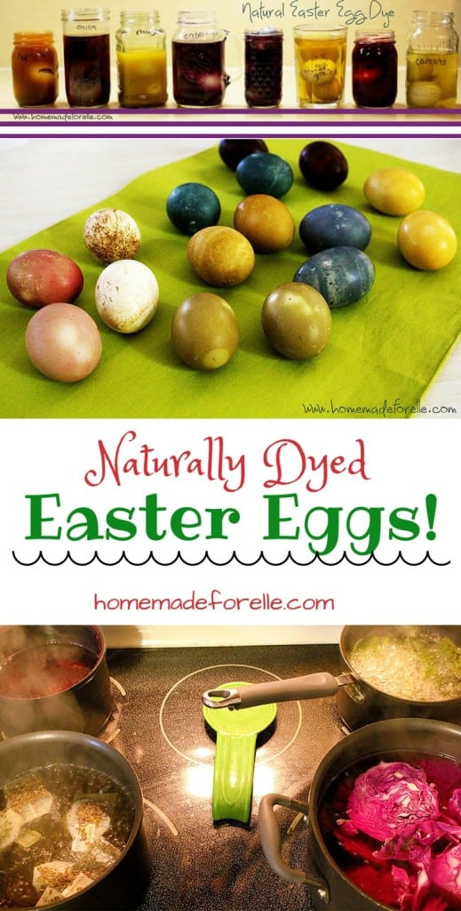 How to make Naturally Dyed Easter Eggs | homemadeforelle.com