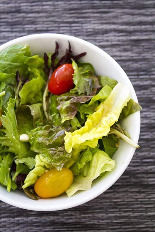 Vinegar and oil Salad Dressing Salad