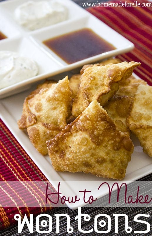 how to make wontons from homemade for elle