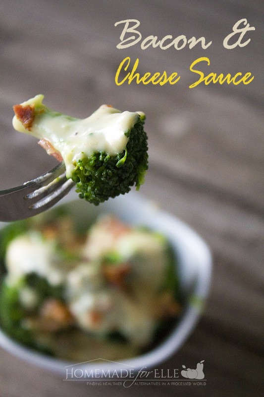 Cheese Sauce for Broccoli | Homemade for Elle