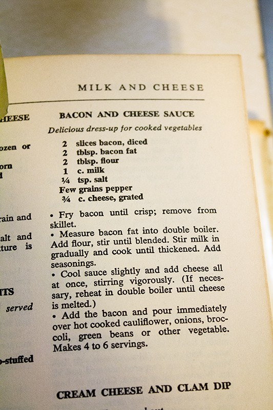 Bacon and cheese sauce recipe