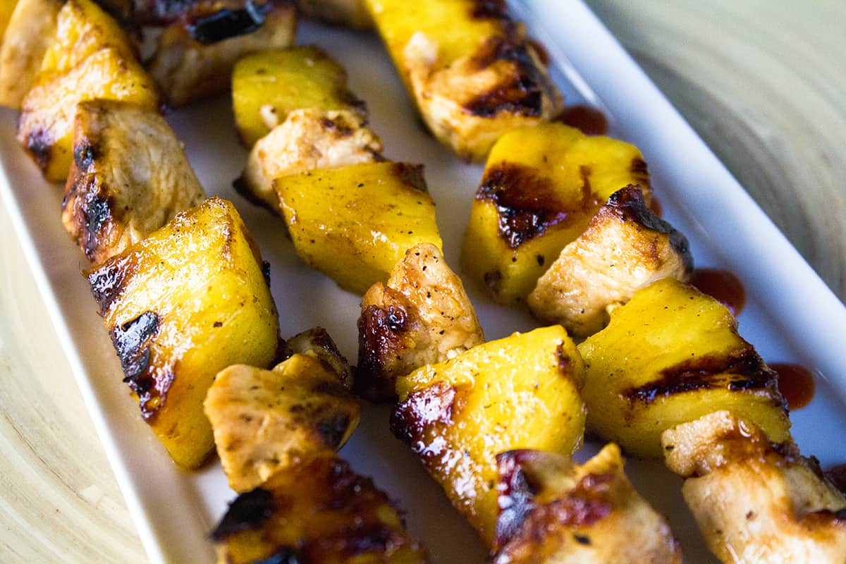 Chicken Pineapple and Sriracha Kebabs Recipes