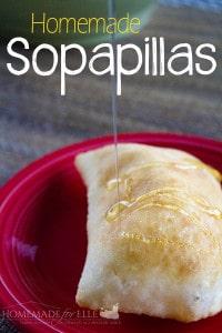 homemade sopapillas with honey