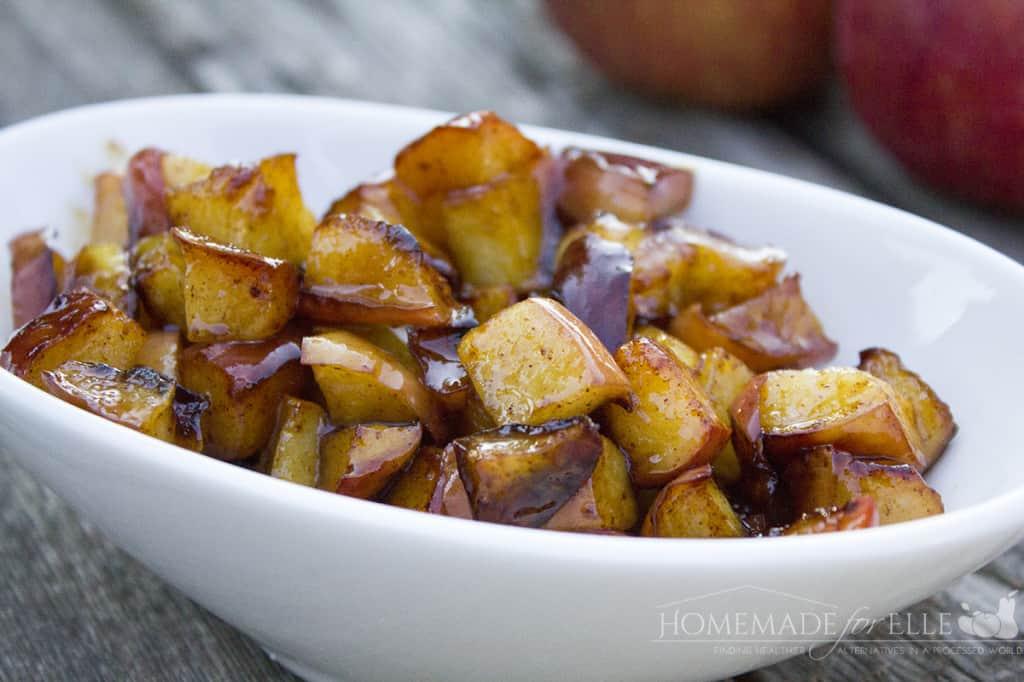 Fried Apples from Homemade for Elle