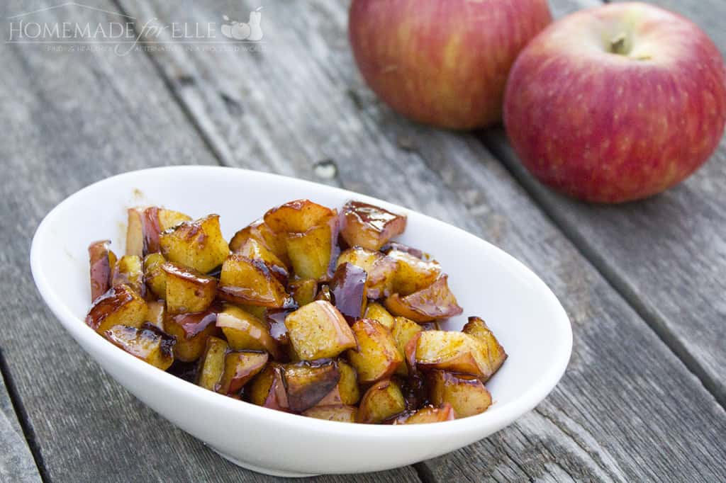 Fried Apples with Honey and cinnamon