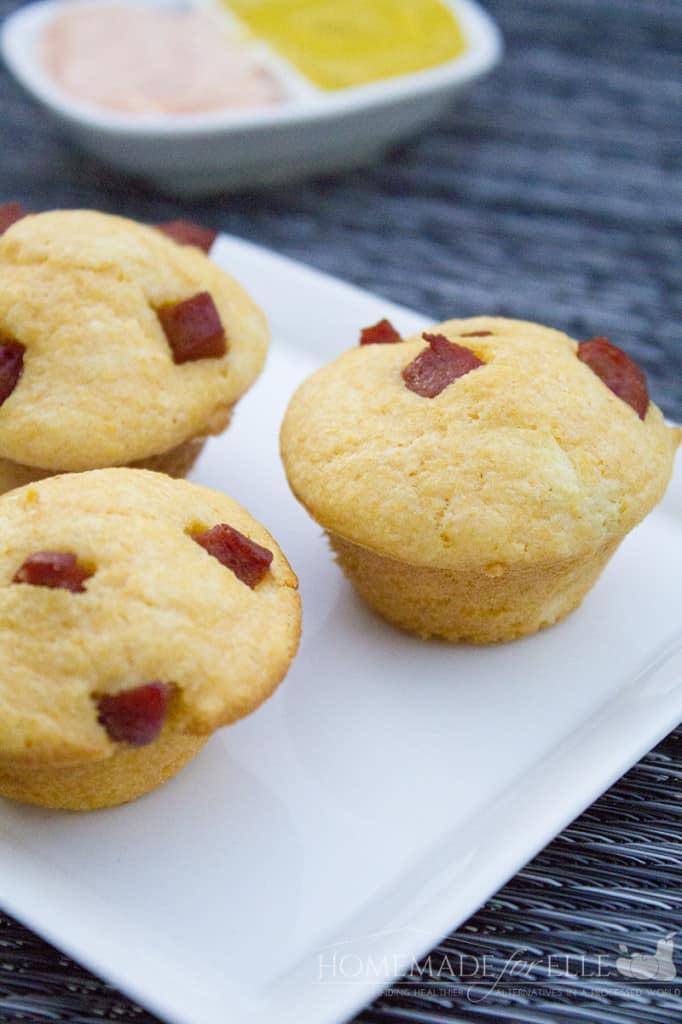 sriracha corndog muffins
