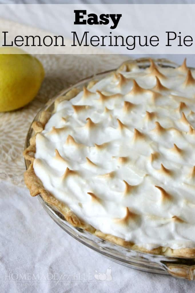 Easy Lemon Meringue Pie | Homemade for Elle | http://homemadeforelle ...