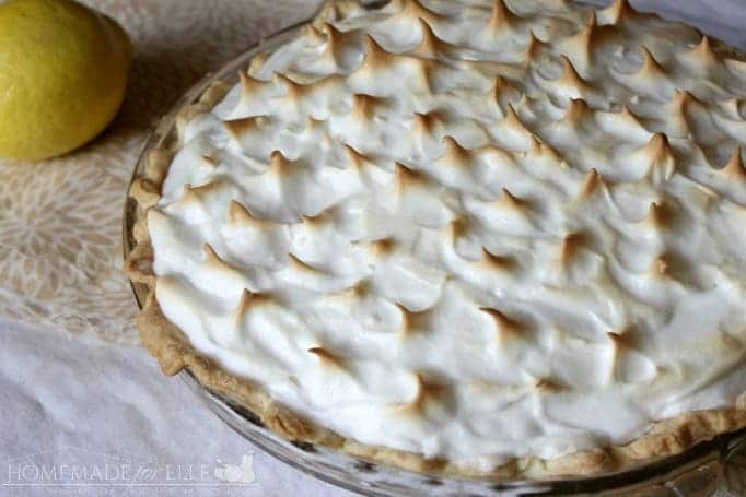Easy Lemon Meringue Pie | Homemade for Elle | https://homemadeforelle.com