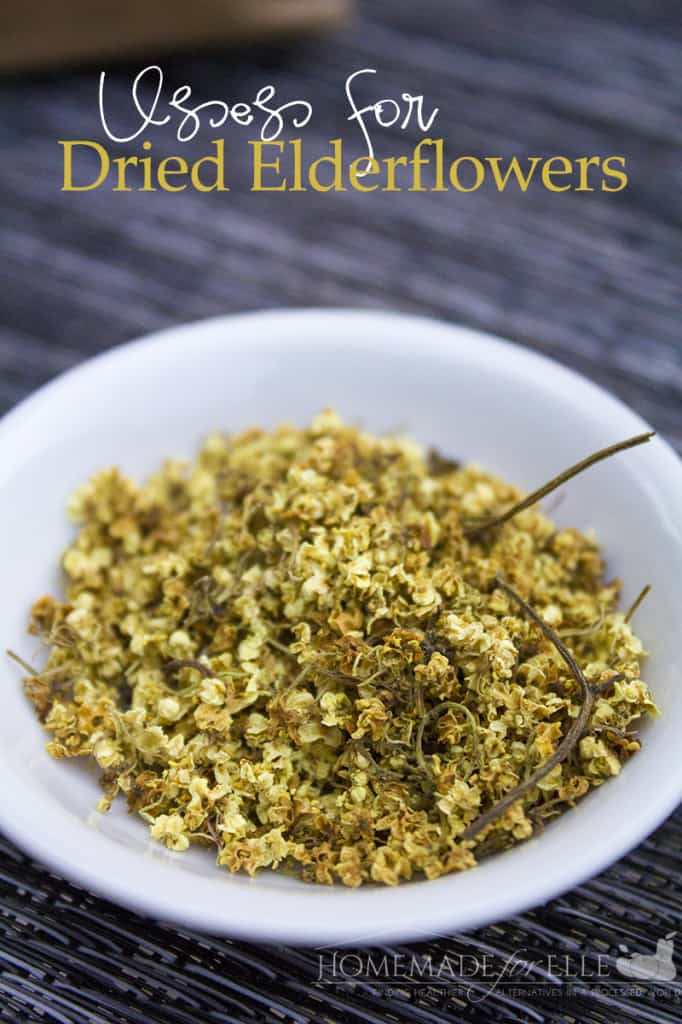 uses for dried elderflowers