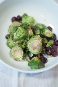 Cranberry Roasted Brussels Sprouts 2