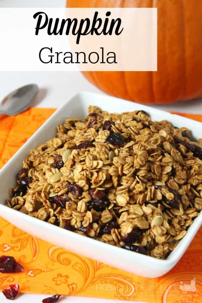 Pumpkin Granola | Homemade for Elle | http://homemadeforelle.com