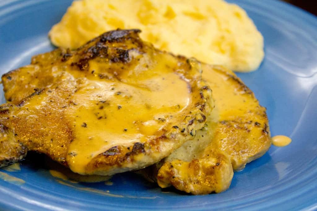 creamy mustard porkchop
