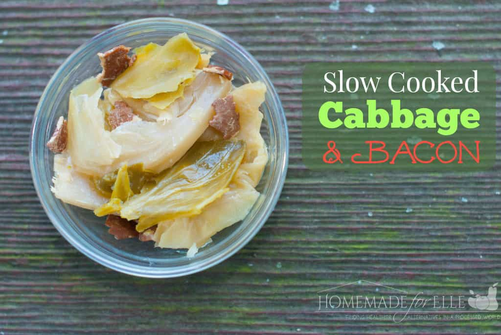 slow cooked cabbage with bacon