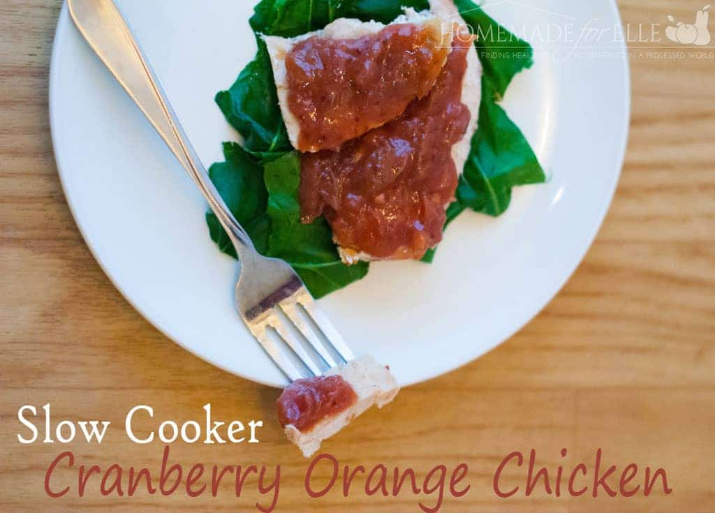 slow cooker cranberry orange chicken