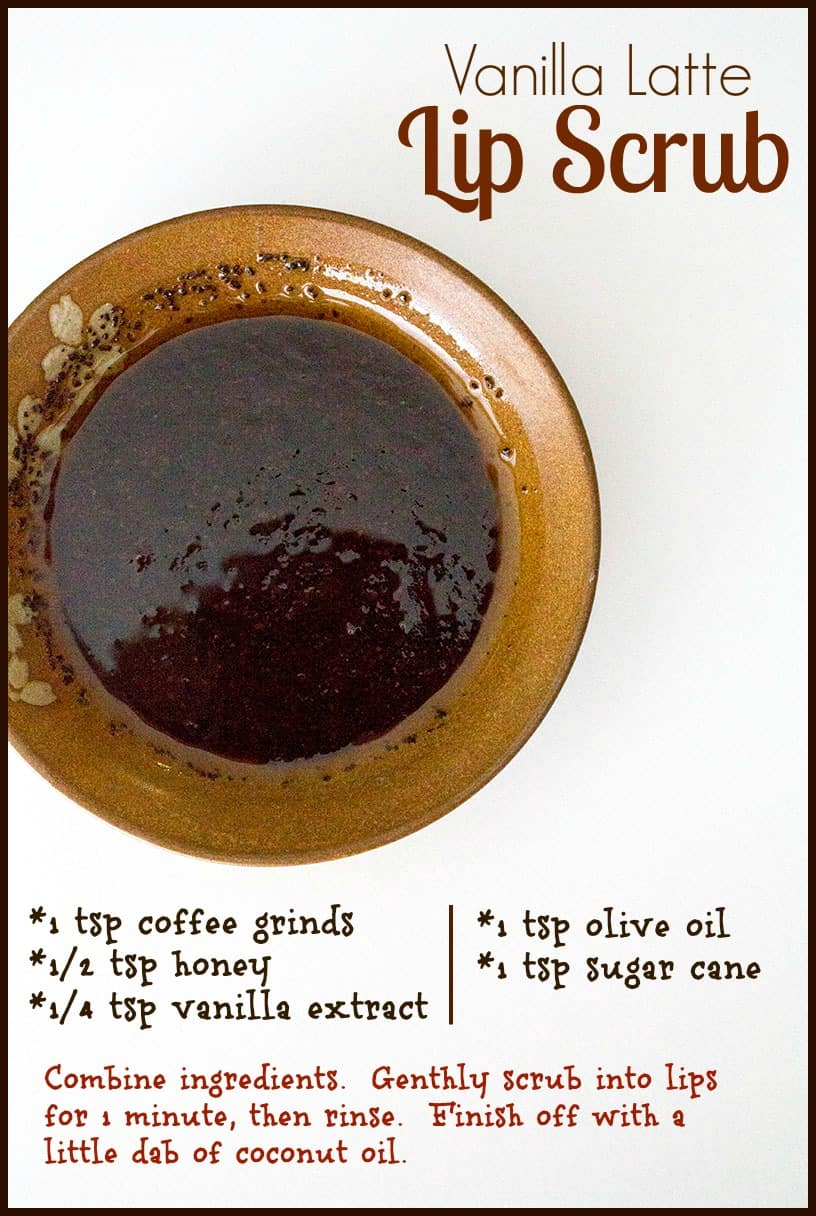 Homemade Vanilla Latte Lip Scrub