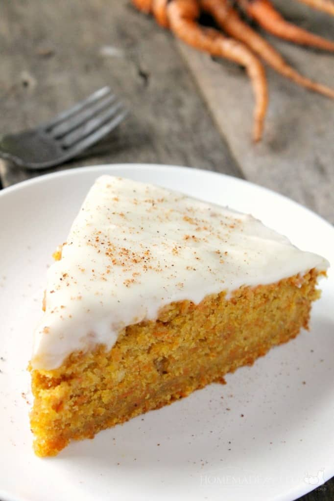 Homemade Carrot Cake with Cream Cheese Frosting | Homemade for Elle | https://homemadeforelle.com