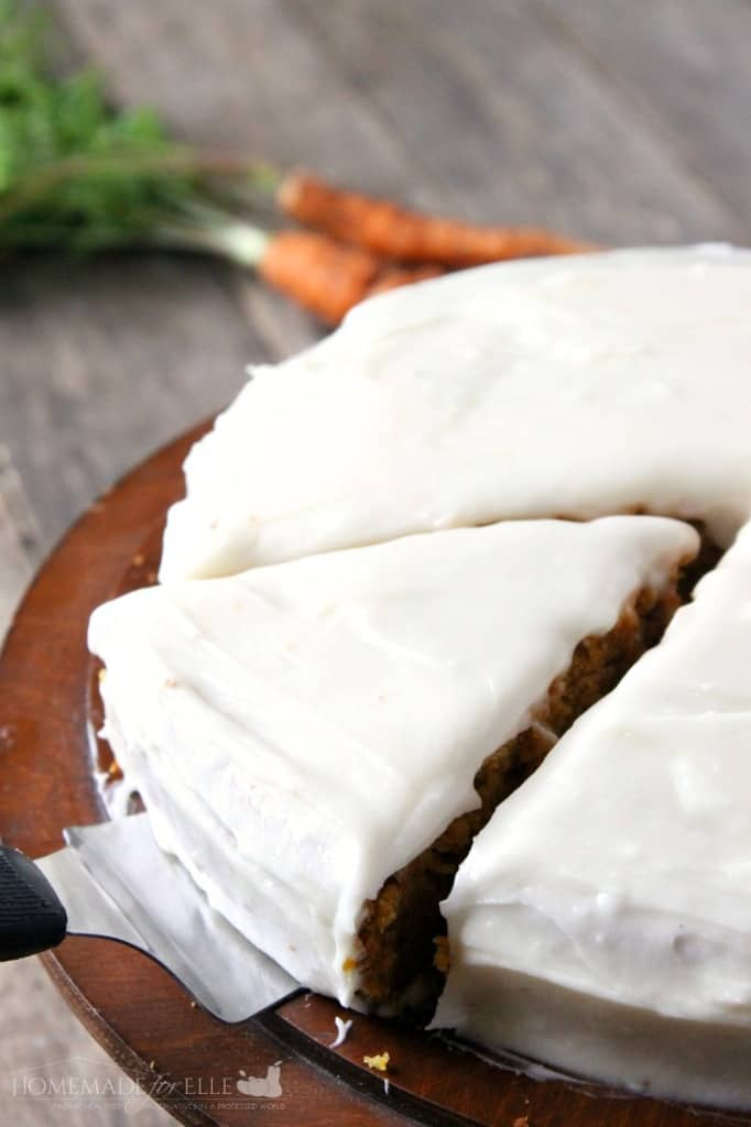 Carrot Cake with Cream Cheese Frosting | Homemade for Elle | http://homemadeforelle.com