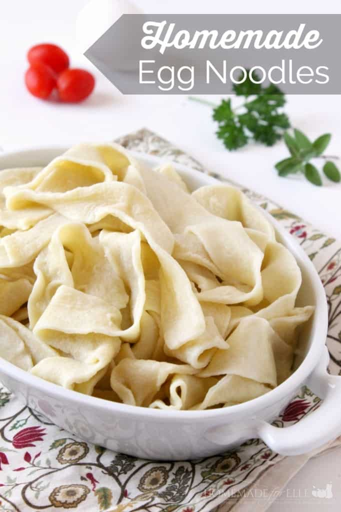 Homemade Egg Noodles | Homemade for Elle | http://homemadeforelle.com