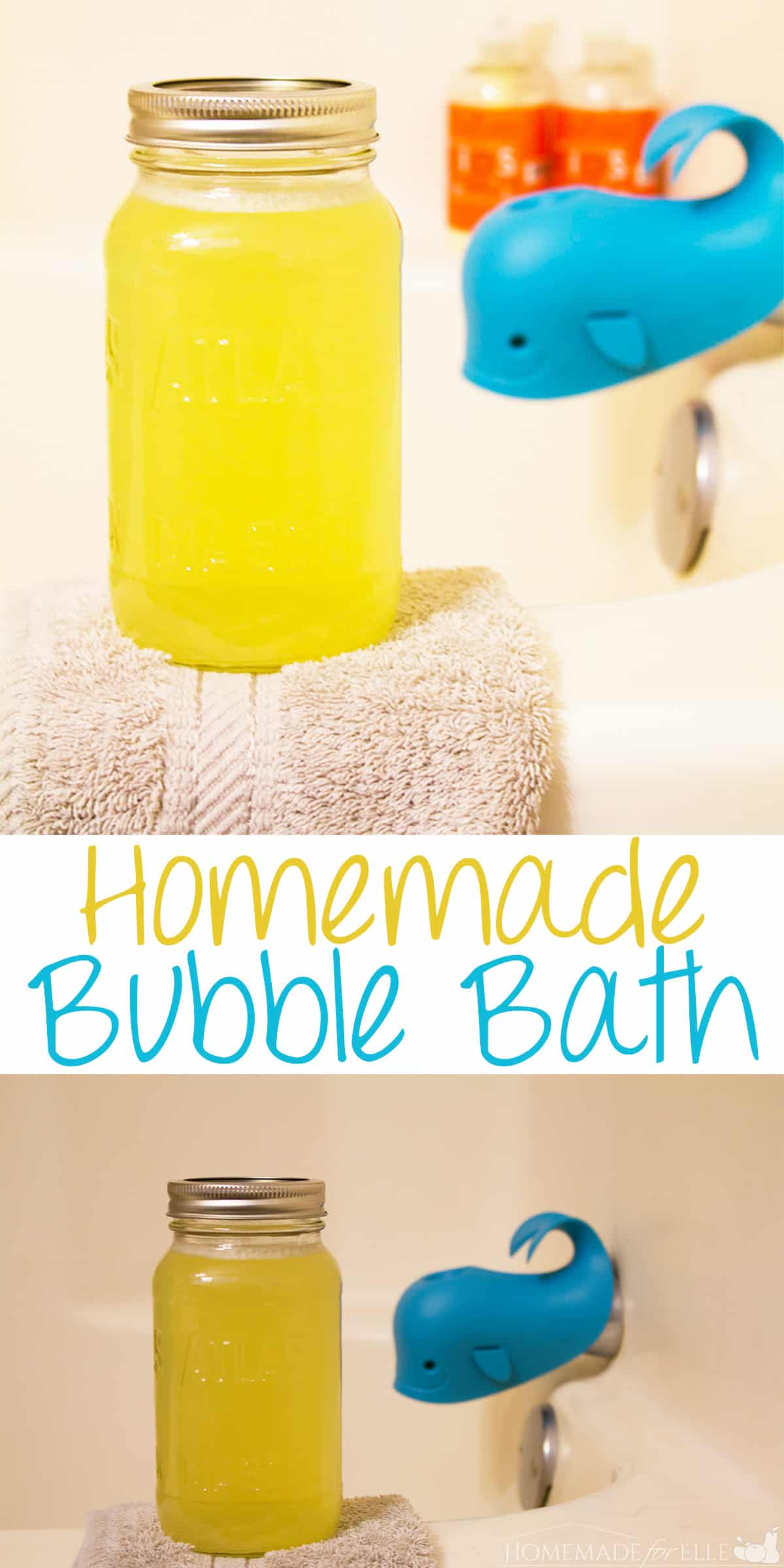 easy homemade bubble bath